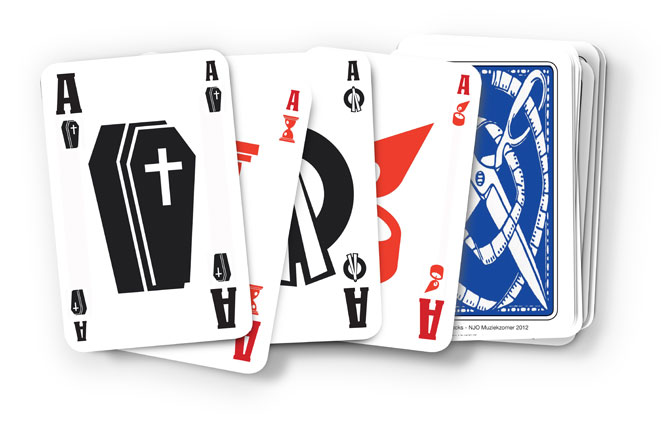 Arnold Schalks, customized set of cards for the opera Death Knocks 2012