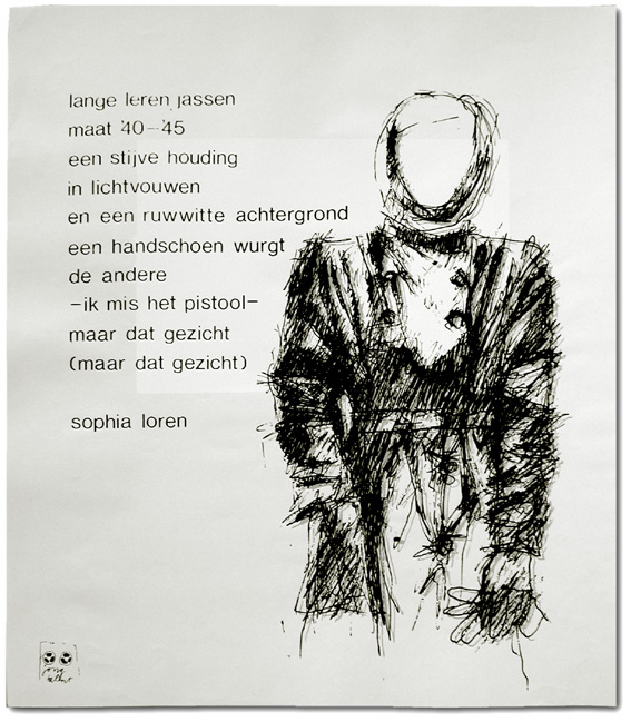 Arnold Schalks, 1980, Jong Talent, tentoonstelling, Paul Henning, Marcos Carrasquer, zeefdrukken, cartoons en poëzie, silk-screen prints, cartoons and poetry, Siebdrücke, Cartoons und Lyrik, Academie van Beeldende Kunst, G.J. de Jonghweg 4, Rotterdam